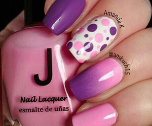 nail, purple, and pink image