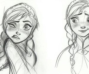 frozen, drawing, and anna image