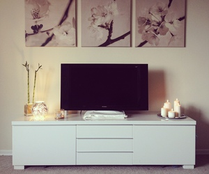 living room and flowers image