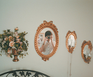 vintage, mirror, and photography image
