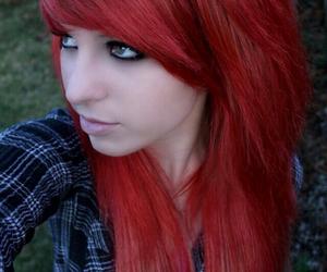 girl, emo, and hair image