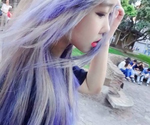 hair, purple, and ulzzang image