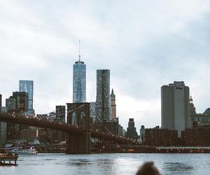 big city, new york, and lights image