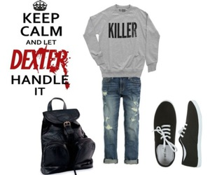 backpack, cute clothes, and Dexter image