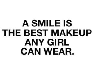 smile, girl, and makeup image