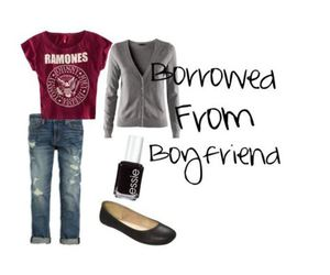 boyfriend, cardigan, and cute clothes image