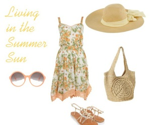 beach, cute clothes, and dress image