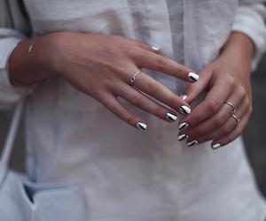 nails, silver, and fashion image