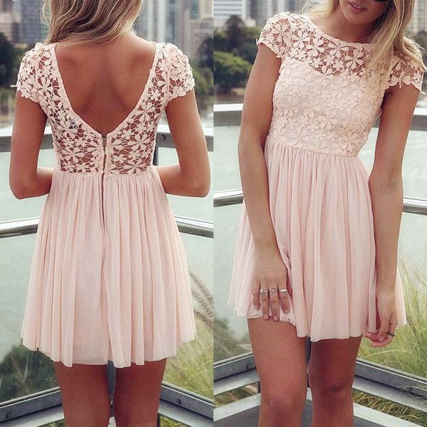 f3cf6213685 Fashion Inspiration › · Fashion xo. Tagged with. cute · floral · pink ·  pretty · simple · summer dress