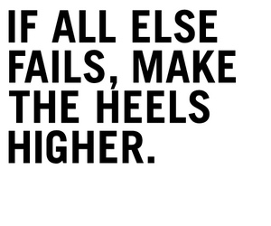 quote, heels, and text image