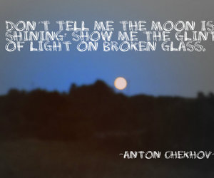 Chekov, moon, and quotes image