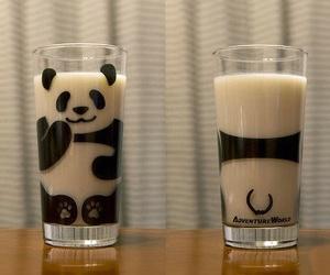 panda, milk, and glass image
