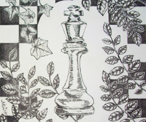 black and white, chess, and king image