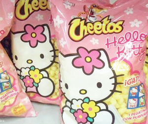 Cheetos, food, and hello kitty image