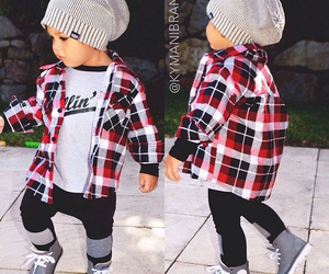 adorable, baby, and beanie image