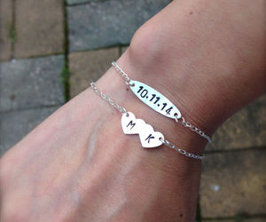 couple, love, and bracelet image
