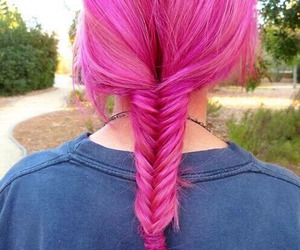 hair, pink, and dyed hair image