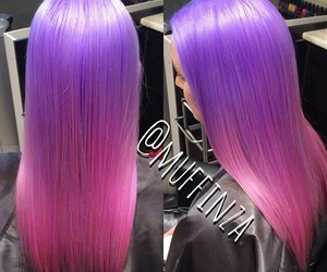 hair, beautiful, and pink image