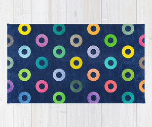 rainbow colorful, art print pattern, and home decor rug image