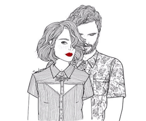 couple, art, and drawing image