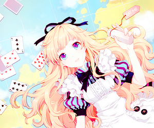 alice, alice in wonderland, and anime girl image