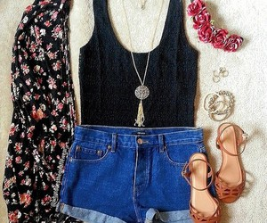 flowers and shorts image