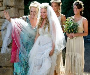 amanda seyfried, wedding dress, and mamma mia image