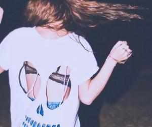 girl, grunge, and skull image