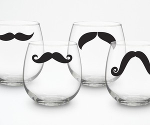 moustache, mustache, and glass image