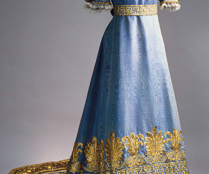 blue, long dress, and rich image
