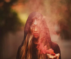 girl, smoke, and witch image