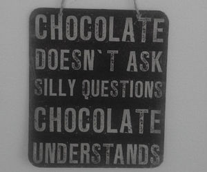 chocolate and quote image