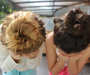 hair, tumblr, and friends image
