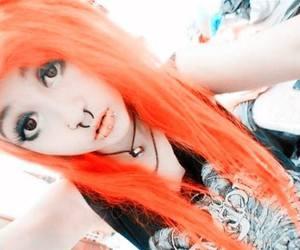 alt girl, alternative, and orange hair image
