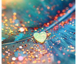 heart, love, and glitter image