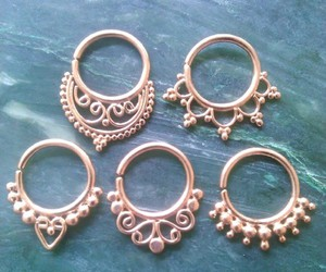 body modification, septum piercing, and septum ring image