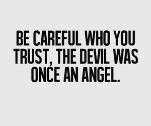 angel, Devil, and trust image