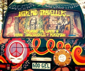 hippie and peace image