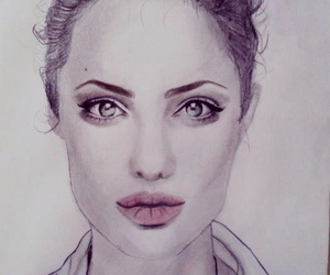 Angelina Jolie, art, and beautiful image