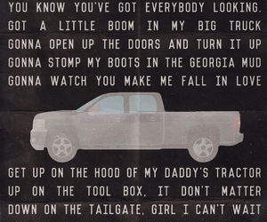 Lyrics, country girl, and luke bryan image