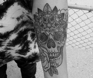 tattoo, skull, and boy image