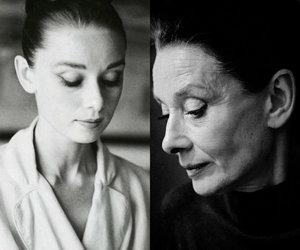 audrey, black&white, and hepburn image