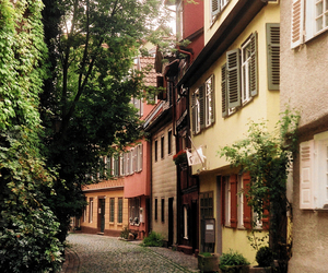 street, house, and city image