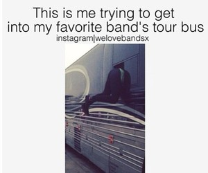 band and tour bus image
