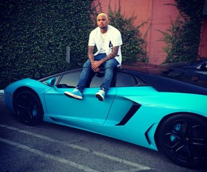 chris brown, car, and blue image
