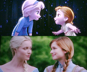 frozen, once upon a time, and la reine des neiges image