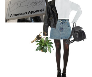 american apparel and Polyvore image