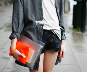 clutch, orange, and fashion is my passion image