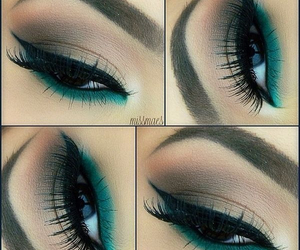 makeup, eye, and green image