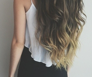 ombre, skirt, and wavyhair image